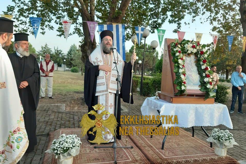 Η Υποδοχή της Ιεράς Εικόνας της Παναγίας η Κυρία των Αγγέλων στους Γεωργανάδες Τρικάλων