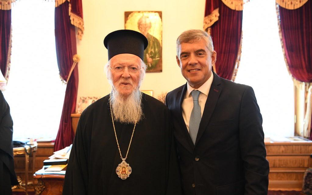 Ο Περιφερειάρχης Θεσσαλίας κ.Κώστας Αγοραστός στον Οικουμενικό Πατριάρχη
