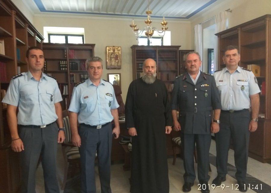 Εθιμοτυπική επίσκεψη του νέου Γενικού Περιφερειακού Αστυνομικού Διευθυντού Θεσσαλίας στον  Μητροπολίτη Θεσσαλιώτιδος  κ. Τιμόθεο