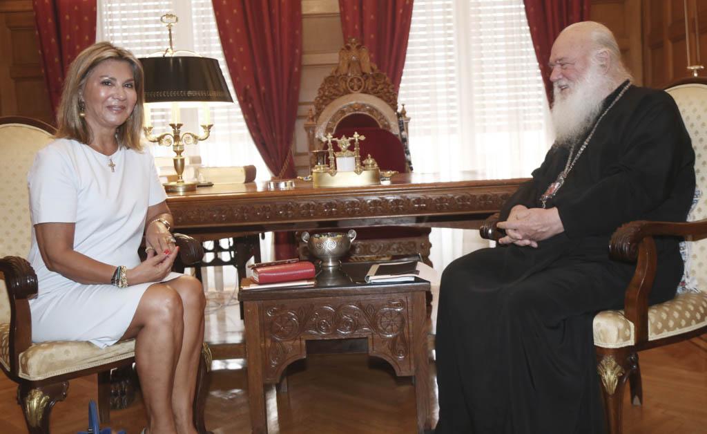 Συνάντηση Αρχιεπισκόπου με την Βουλευτή κ. Ζέτα Μακρή