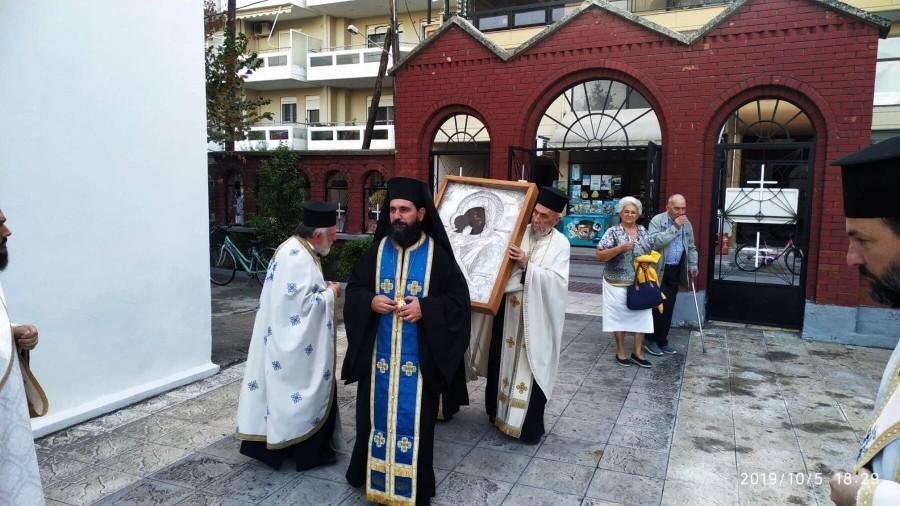 Υποδοχή της Εικόνας της Παναγίας Γλυκοφιλούσης στον Ιερό Ναό Ζωοδόχου Πηγής Καρδίτσης