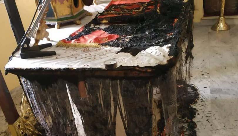 ΧΙΟΣ  Εμπρησμός στο εκκλησάκι του Αγίου Χαράλαμπου του Χαλκειούς
