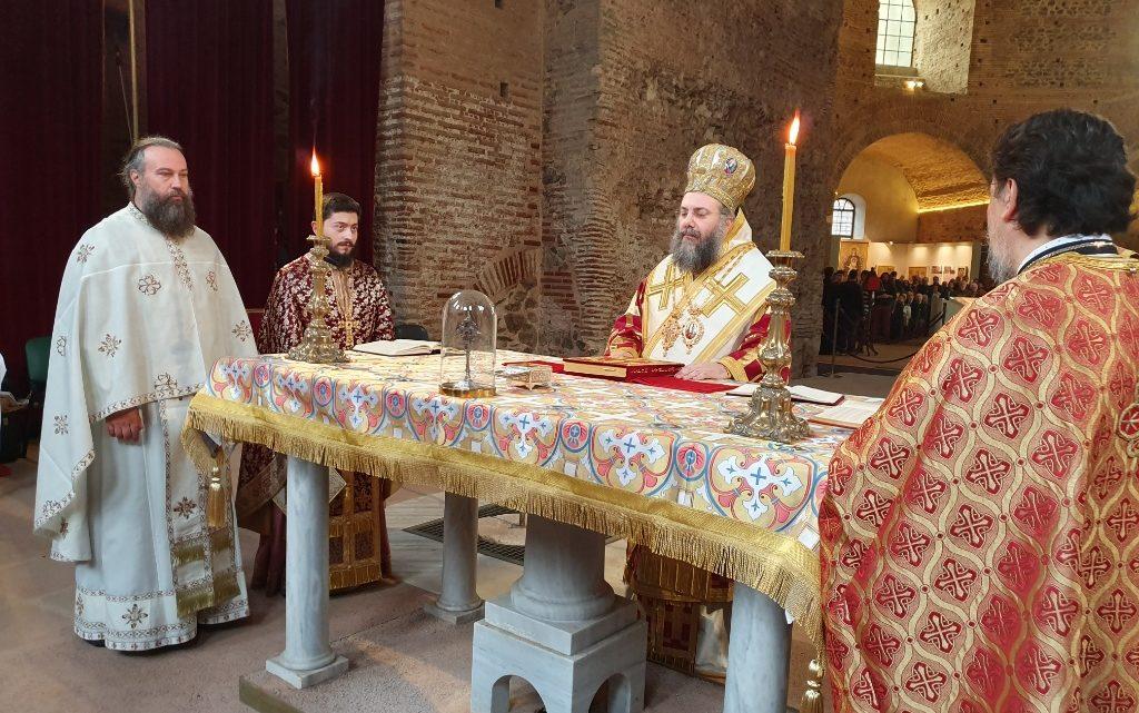 Ο Μητροπολίτη Τρίκκης και Σταγών κ. Χρυσόστομο στον Ιερό Ναό Αγίου Γεωργίου στη Ροτόντα Θεσσαλονίκης