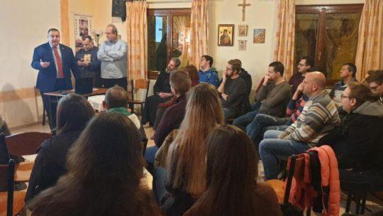 Παρουσίαση της δράσης του Ορθόδοξου Κινήματος Νεολαίας στο Σύνδεσμο Νέων Ι. Μ. Δημητριάδος