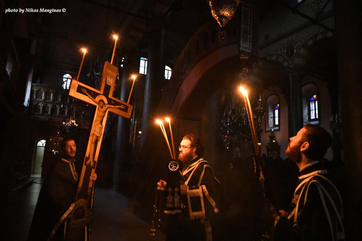 Η Ακολουθία των Παθών του Κυρίου στον Πατριαρχικό Ναό στο Φανάρι