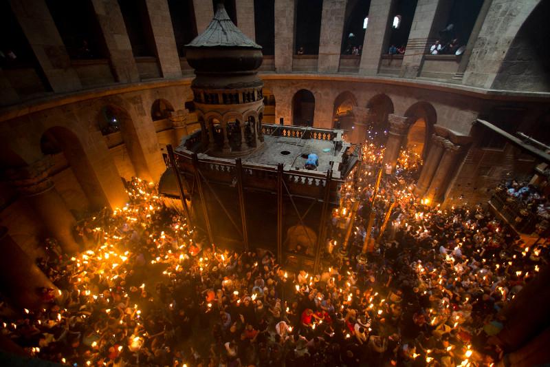 Απευθείας Μετάδοση απο τον Πανάγιο Τάφο η τελετή της αφής του αγίου φωτός