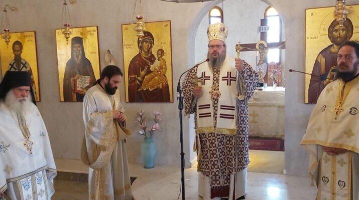 Αρχιερατική Θεία Λειτουργία στην Ι.Μ. Αγίου Νικοδήμου Πυργετού