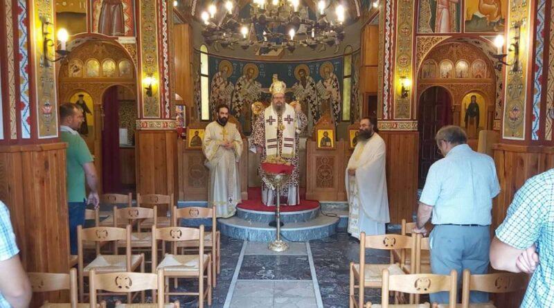 Κυριακάτικη Θεία Λειτουργία Στην Κατασκήνωση της Σκοτίνας Πιερίας