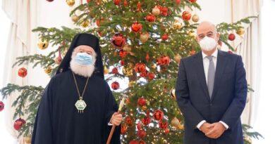 Συνάντηση του Πατριάρχη Αλεξανδρείας με τον Υπ. Εξωτερικών Ν. Δένδια